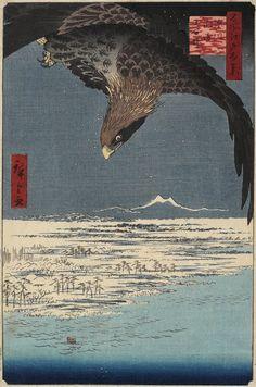 Utagawa Hiroshige: Jumantsubo at Susaki, Fukagawa - Minneapolis Institute of Arts