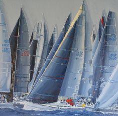 """S/T IV"", serie regatas – Belén Eizaguirre Alvear Portfolio, Sailing Ships, Boat, Tanks, Oil On Canvas, Canvases, Boats, Dinghy, Sailboat"