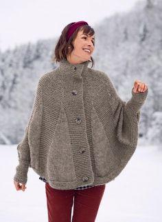 16 17 - n° 319 Poncho cape Modèles, broderie   tricot Achat en ligne cc61e551c8c