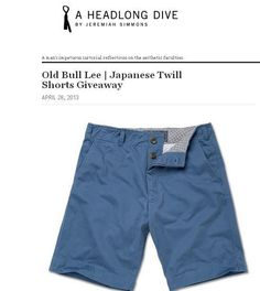 A HeadLong Dive and Old Bull Lee | Japanese Twill