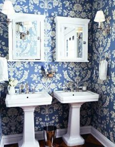 side by side pedestal sinks