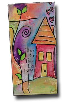 I love my paintbrush! | The Art House Studio  Created by Karen Ellis using her Whimsical Houses Stencil from The Crafter's Workshop
