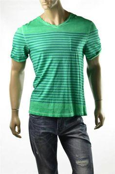 Buffalo T-shirt David Bitton Crew Cotton Vert Taryl Pocket T Shirts Sz L New
