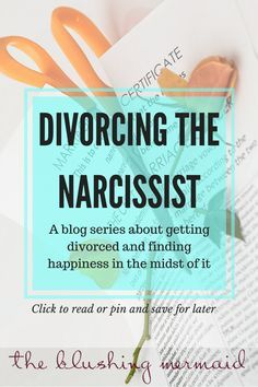 A blog series about going through a divorce with my narcissistic almost ex husband. Read to find out more divorcing a narcissist, divorce advice, divore