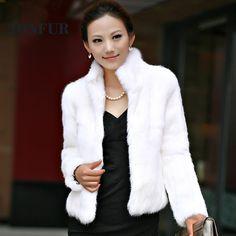 2017 New Genuine Rabbit Fur Coat women full pelt rabbit fur jacket Winter Fur Overcoat customized big size Stand Collar FP267-in Fur & Faux Fur from Women's Clothing & Accessories on Aliexpress.com | Alibaba Group