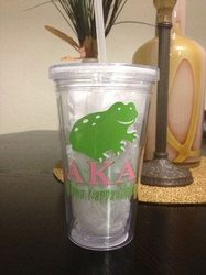 Alpha Kappa Alpha Greek (Skee Wee) Personalized Acrylic Tumbler on Etsy, $12.00