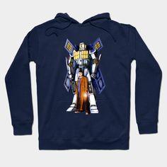 10th Doctor With Big Giant Retro Transformers Phone box Hoodie #teepublic #hoodie #sweater #shirt #tshirt #tee #clothing #tardisdoctorwho #police #publiccallbox #davidtennant #starrynight #vangogh #transformers #autobots #robot #warmachine #timemachine