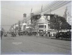 Surf Avenue, Loop the Loop, The Iron Tower and Dreamland.  Coney Island, New York, 1906
