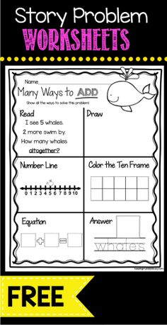 ADDITION - Freebies - Math Centers - Worksheets - Kindergarten Operations and Algebraic Thinking Common Maths Guidés, Teaching Math, Math Fractions, Subitizing, Math Teacher, Fun Math, Addition Words, Math Addition, Math Story Problems