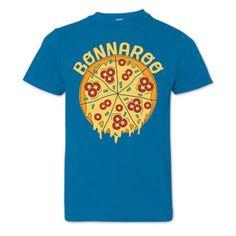 Bonnaroo 2016 Youth Pizza T-Shirt - Cobalt