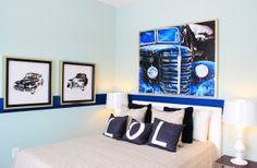 #Bedroom in the Talbot model home at Arcadia Springs in Martinsburg, WV- http://arcadia-springs.com/arcadia-springs/our-homes/talbot/ #boysroom #wallart #homedecor