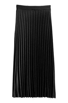 Pleated skirt - Black - | H&M