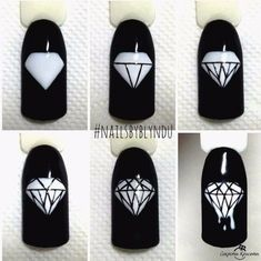 We all want beautiful but trendy nails, right? Here's a look at some beautiful nude nail art. New Nail Art, Nail Art Diy, Easy Nail Art, Dope Nails, Fun Nails, Diamond Nail Art, Diamond Nail Designs, Nail Techniques, School Nails