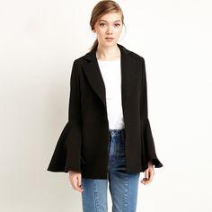 8c4ec1179ed9d Casual Office Wear Blazer Women Black Autumn Elegant Womens Blazers Long  Sleeve Vintage Blouson Abrigo Mujer Woman Coat X60011