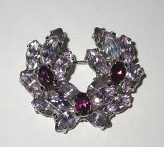 Fabulous wreath style pin by Mitchell Maer for Dior