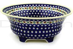 Polish Pottery House Stoneware | Footed Bowl Old Poland