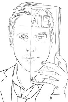 Ryan Gosling coloring book?!    @Laura Pickart and @ALL lovers of my Ryan