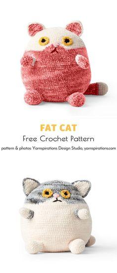 Chat Crochet, Crochet Gratis, Crochet Patterns Amigurumi, Crochet Toys, Free Crochet, Knitting Patterns, Yarn Projects, Knitting Projects, Crochet Projects