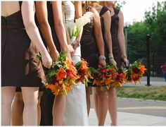 Fall Wedding Party #callalilies #asiaticlilies #roses #hypericum