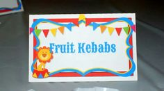 Circus Birthday party Food Labels by Gwendolyn Calderon with MiaBellaCreationz