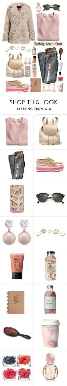 """Trend: Teddy Bear Coats"" by mariaalatzak ❤ liked on Polyvore featuring H&M, Prada, Ray-Ban, Jankuo, GUESS, NARS Cosmetics, French Girl, Mason Pearson, Imm Living and LSA International"
