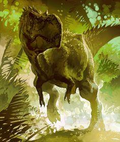 Greg Broadmore T-Rex Speed Painting
