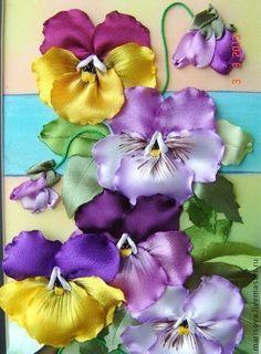 Wonderful Ribbon Embroidery Flowers by Hand Ideas. Enchanting Ribbon Embroidery Flowers by Hand Ideas. Ribbon Embroidery Tutorial, Ribbon Flower Tutorial, Silk Ribbon Embroidery, Embroidery Art, Embroidery Stitches, Embroidery Designs, Embroidery Bracelets, Ribbon Art, Ribbon Crafts