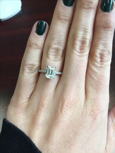 1ct Emerald Cut On Size 5 5 Finger B Dazzled In 2019