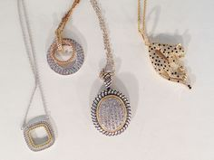 Mixed Metal Pendant Necklaces with Retro Flair
