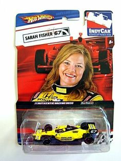 Hot Wheels IndyCar Series SARAH FISHER #67, Yellow Dollar General by Mattel. $6.90. yellow colored body with black tampos and Firestone tires. IndyCar series, Sarah Fisher #67. real riders. authentic racing deco. 1/64 scale die-cast. Hot Wheels IndyCar Series SARAH FISHER   Alphagamma