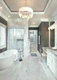 white marble bathroom   dream master bathroom