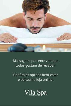 Massagem, presente zen que todos gostam de receber!  Confira as opções bem-estar e beleza na loja online: #QualidadedeVida #Spa
