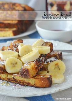 Turn your banana bread into french toast! Easy, delicious, and a great breakfast for a special morning! #breakfast