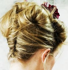 Double french twist. interesting.