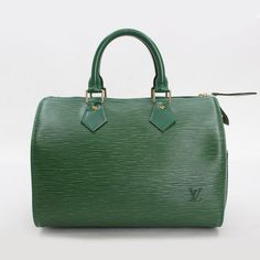 Louis Vuitton Speedy 25 Epi Handle bags Green Leather M43014