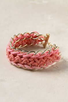 Who can figure out the pattern to make a knock-off of this cute Anthropologie bracelet!?!
