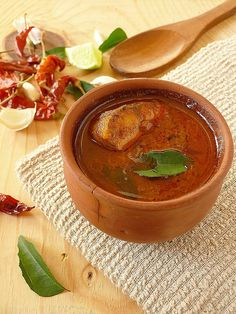 Tamarind based fish curry with coconut