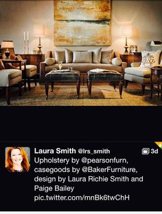 Thank You Laura Richie Smith For Sharing This Beautiful Room Filled With Pearson Furniture
