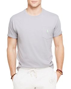 9890d51940da Polo Ralph Lauren Jersey Pocket Crewneck Tee Tee Online, Shirt Men, T Shirt,