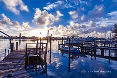 Sunrise on the Dock, Treasure Island, FL, after Tropical Storm Andrea.