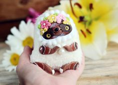 Miniature doll art collectible toy cute animal by LullabyForFox