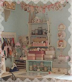 Craft Storage, Storage Ideas, Dream Art Room, Vintage Sewing Rooms, Craft Room Design, Aesthetic Room Decor, Craft Rooms, Space Crafts, Studio Ideas