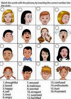 A feladat egyszerű: kikell választani melyik ábrához melyik érzelem társul. Ez a feladat ellenőrzi a diákok érzelemfelismerő készségét.