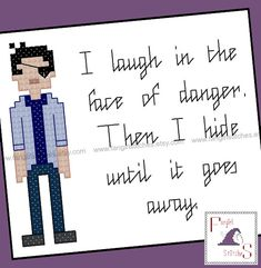 Buffy the Vampire Slayer inspired Xander Quote by FangirlStitches