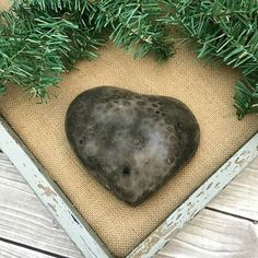 Petoskey Stone Heart