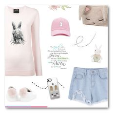 """""""All Things Bunny 🐰 Shutout To @olivia-senjaya"""" by paradiselemonade ❤ liked on Polyvore featuring Markus Lupfer, Minna Parikka, Forever 21, Casetify and COS"""