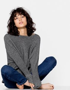 Pull&Bear - woman - clothing - knit - sweater with cap sleeves - 0-093 - 09558311-I2016
