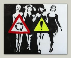 Stencil inspired by 80's super models! check out more at www.mumsytextiles.com