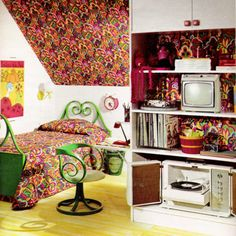 An amazing 60's bedroom from Seventeen magazine, May 1967