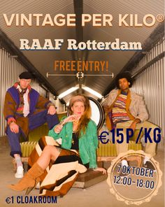 Vintage per Kilo is back!! The 7th of October you can find us at RAAF Rotterdam. Score your perfect vintage wintercollection for only €15 p/kg. #vintage #vintageclothes #winter #collection #retro #rotterdam #kilosale #vintageperkilo #rofwholesale